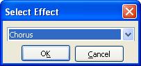 Select FX window
