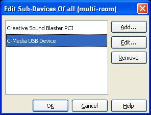 Edit Sub-Devices window
