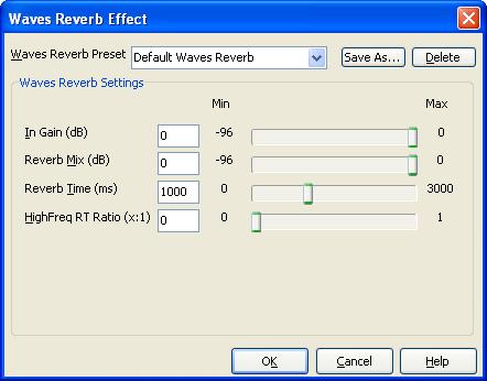Waves Reverb FX